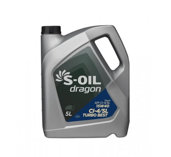 DRAGON TURBO BEST 15W40  Олива моторна напівсинтетична 5л.