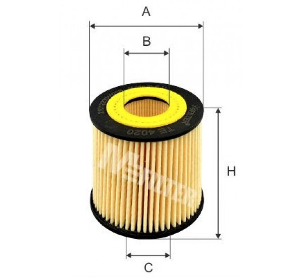 TE 4020 Фільтр мастила