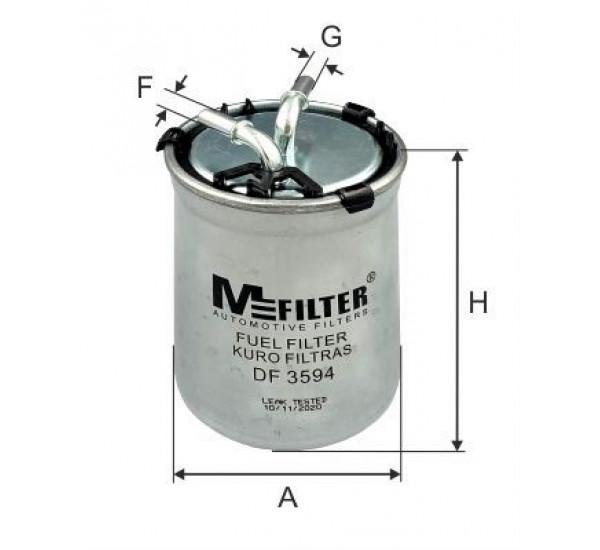 DF 3594 Фільтр для фільтрування палива у ДВЗ