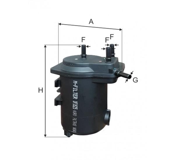 DF 3525 Фільтр для фільтрування палива у ДВЗ