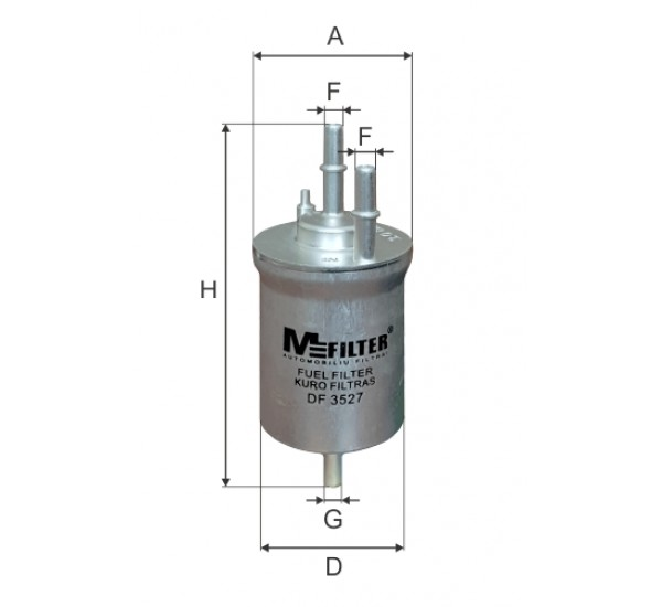 DF 3526 Фільтр для фільтрування палива у ДВЗ