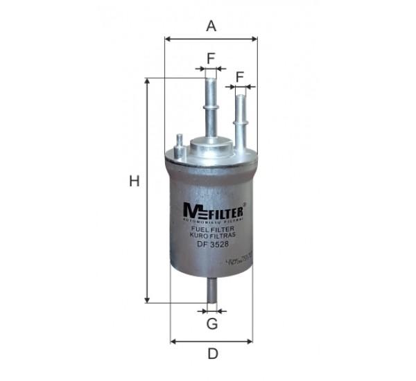 DF 3528 Фільтр для фільтрування палива у ДВЗ