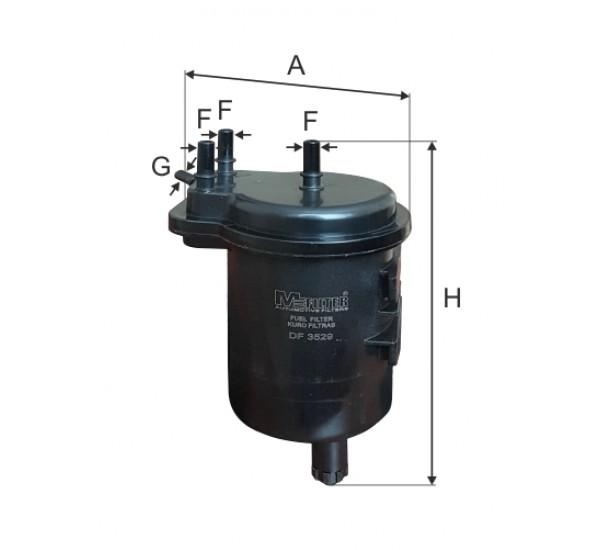 DF 3529 Фільтр для фільтрування палива у ДВЗ