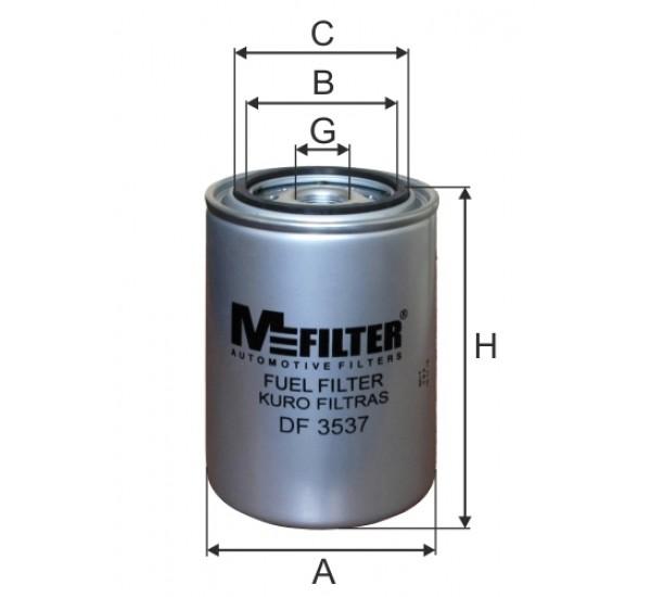 DF 3537 Фільтр для фільтрування палива у ДВЗ