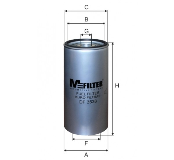 DF 3538 Фільтр для фільтрування палива у ДВЗ