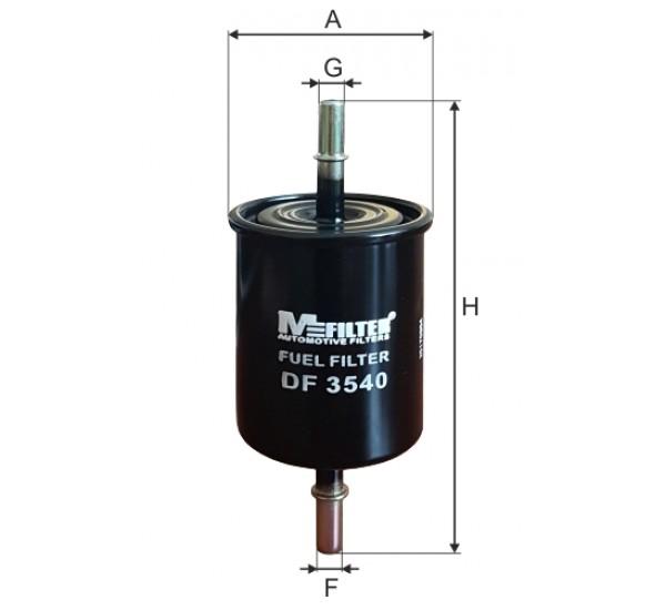 DF 3540 Фільтр для фільтрування палива у ДВЗ