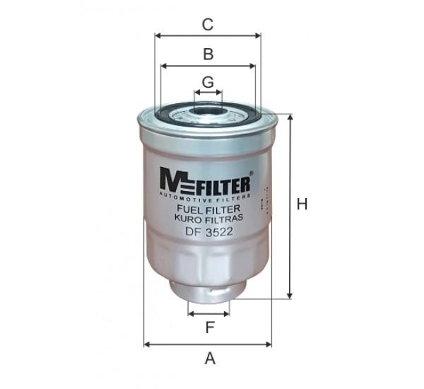 DF 3522 Фільтр для фільтрування палива у ДВЗ